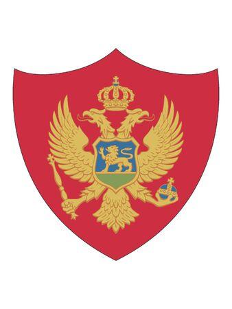Shield Shaped Flag of Montenegro