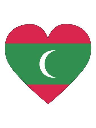 Heart Shaped Flag of Maldives