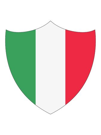 Shield Shaped Flag of Italy Illusztráció
