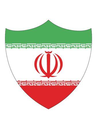 Shield Shaped Flag of Iran