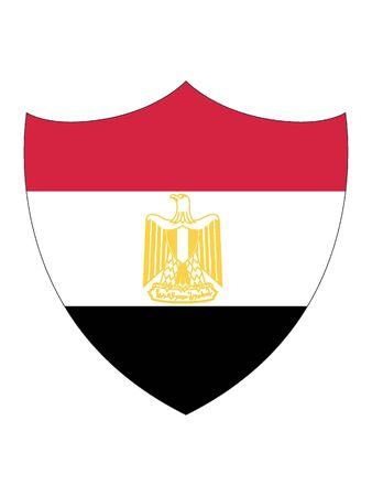 Shield Shaped Flag of Egypt 일러스트