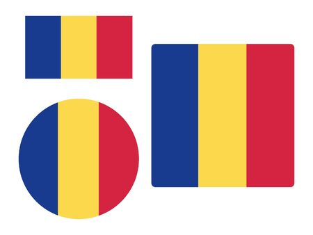 Set of Various Shapes of the Flag of Romania 向量圖像