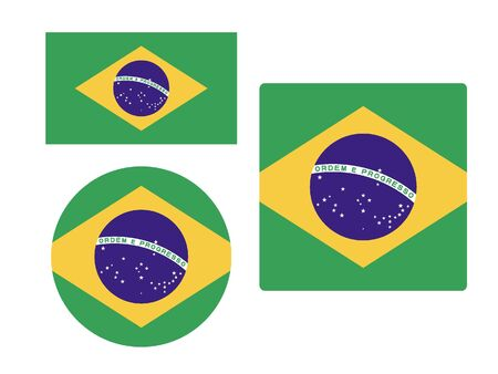 Set of Various Shapes of the Flag of Brazil
