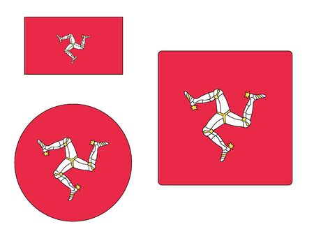 Set of Various Shapes of the Flag of Isle of Man
