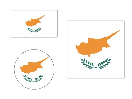 Set of Various Shapes of the Flag of Cyprus Иллюстрация