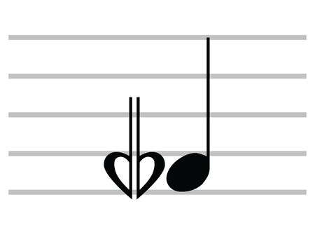 Black Flat Isolated Musical Symbol of Flat-and-a-half (Sesquiflat)