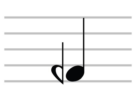 Black Flat Isolated Musical Symbol of Demiflat