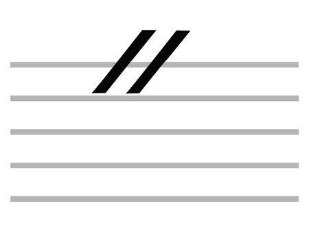Black Flat Isolated Musical Symbol of Caesura