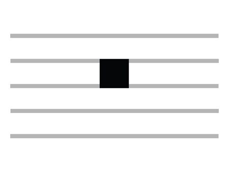 Black Flat Isolated Musical Symbol of Breve (Double Whole Rest)