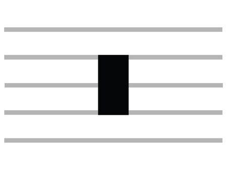 Black Flat Isolated Musical Symbol of Long (Quadruple Whole Rest)