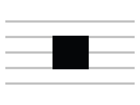 Black Flat Isolated Musical Symbol of Large (Octuple Whole Rest)