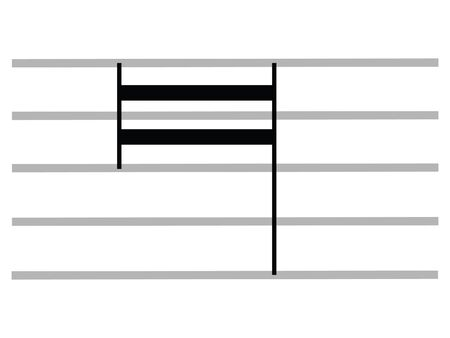 Black Flat Isolated Musical Symbol of Large (Octuple Whole Note)