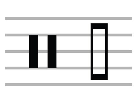 Black Flat Isolated Musical Symbol of Neutral Clef Ilustrace