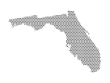 Simple Seamed Dotted Pattern Map of USA State of Florida Ilustrace