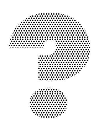 Simple Seamed Dotted Pattern Illustration of Question Mark Ilustração