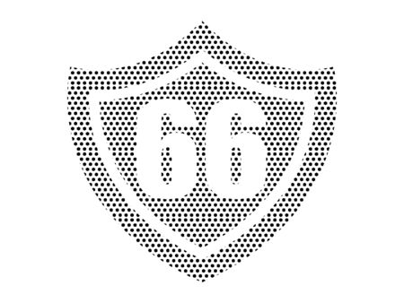 Simple Seamed Dotted Pattern Illustration of Route 66