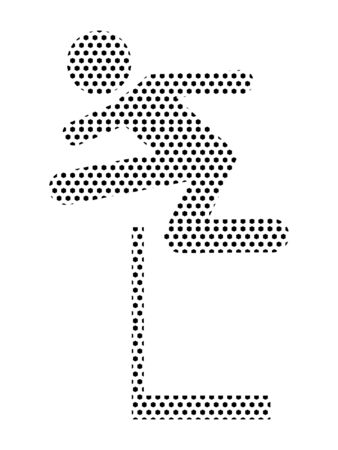 Simple Seamed Dotted Pattern Symbol of Steeple Chase