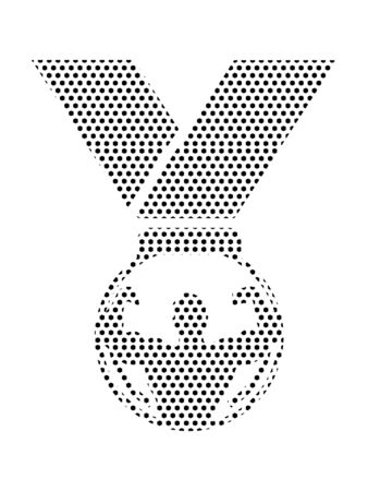 Simple Seamed Dotted Pattern Symbol of Strongman First Prize Medal