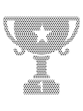 Simple Seamed Dotted Pattern Symbol of Trophy