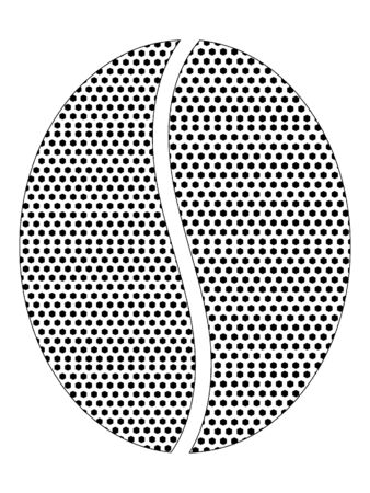Simple Seamed Dotted Pattern Symbol of Coffee Bean Logo Stock fotó - 137881839