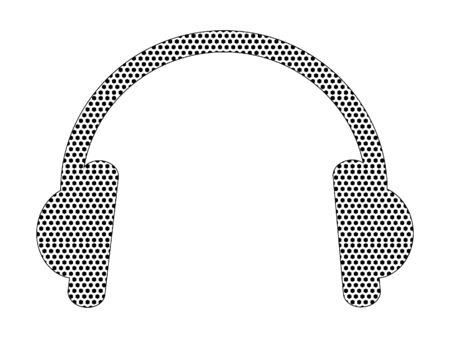 Simple Seamed Dotted Pattern Fashion Symbol of Hipster Headset
