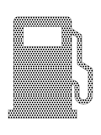 Simple Seamed Dotted Pattern Symbol of Dashboard Petrol Level