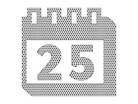 Simple Seamed Dotted Pattern Picture of a Christmas Day Calendar