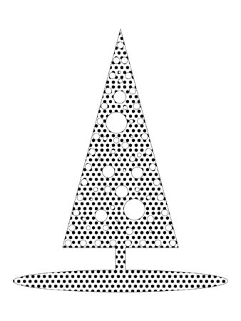 Simple Seamed Dotted Pattern Picture of a Designer Christmas Tree