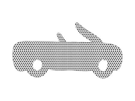 Simple Seamed Dotted Pattern Picture of a Cabiolet Car