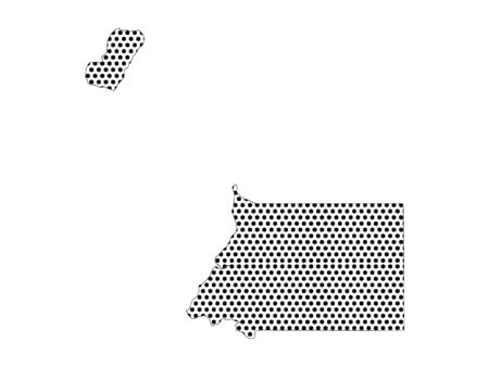 Simple Seamed Dotted Pattern Map of Equatorial Guinea