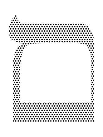 Simple Seamed Dotted Pattern Image of the Hebrew Alphabet Letter Mem Ilustrace