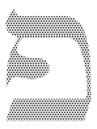 Simple Seamed Dotted Pattern Image of the Hebrew Alphabet Letter Pei Ilustrace