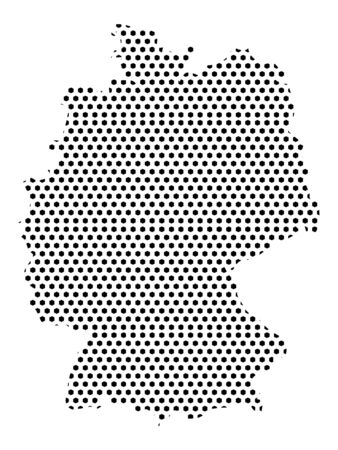 Simple Seamed Dotted Pattern Map of Germany Ilustrace