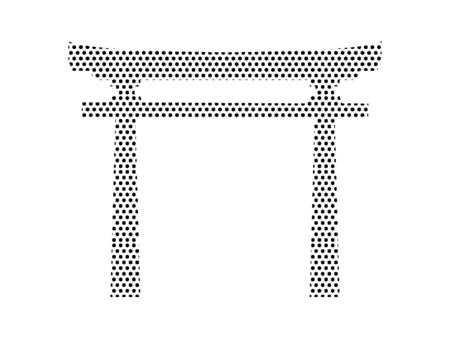 Simple Seamed Dotted Pattern Symbol of Japanese Architecture Temple