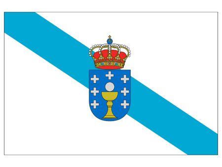 Flag of the Spanish Autonomous Community of Galicia