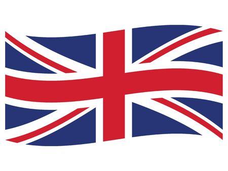Waving Flat Flag of the European County of United Kingdom