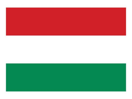Flat Flag of the European County of Hungary