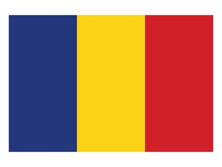 Flat Flag of the European County of Romania