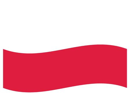 Waving Flat Flag of the European County of Poland