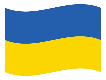 Waving Flat Flag of the European County of Ukraine