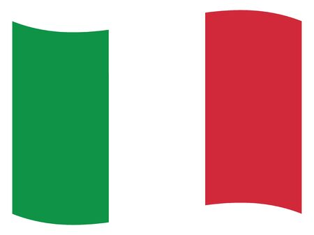 Waving Flat Flag of the European County of Italy