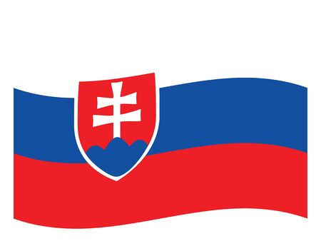 Waving Flag of the European Country of Slovakia