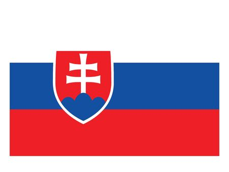 Flag of the European Country of Slovakia  イラスト・ベクター素材
