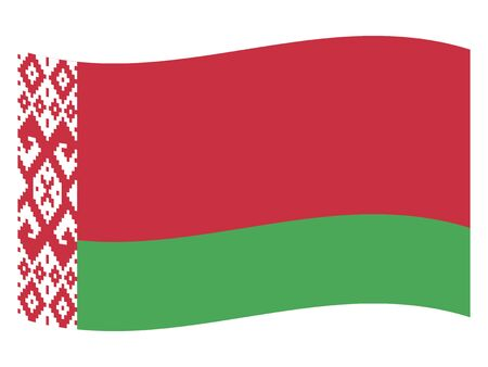 Waving Flag of the European Country of Belarus