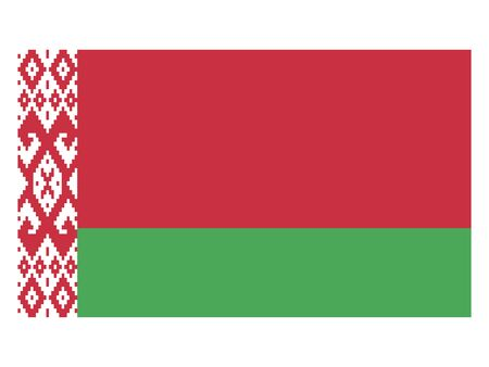 Flag of the European Country of Belarus