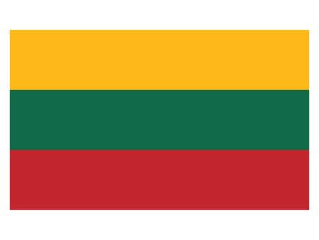 Flag of the European Country of Lithuania