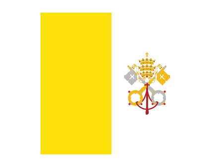 Flag of the European Country of Vatican