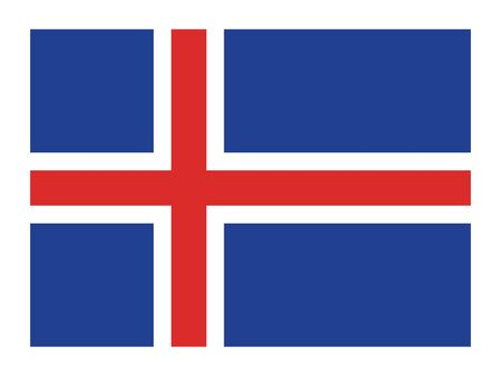 Flag of the European Country of Iceland