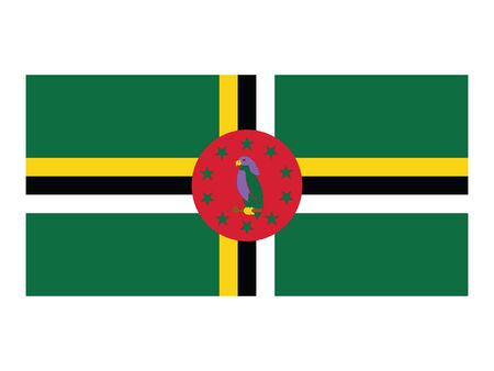 Flat Flag of Central American Country of Dominica