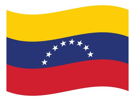 Waving Flat Flag Asian Country of Venezuela